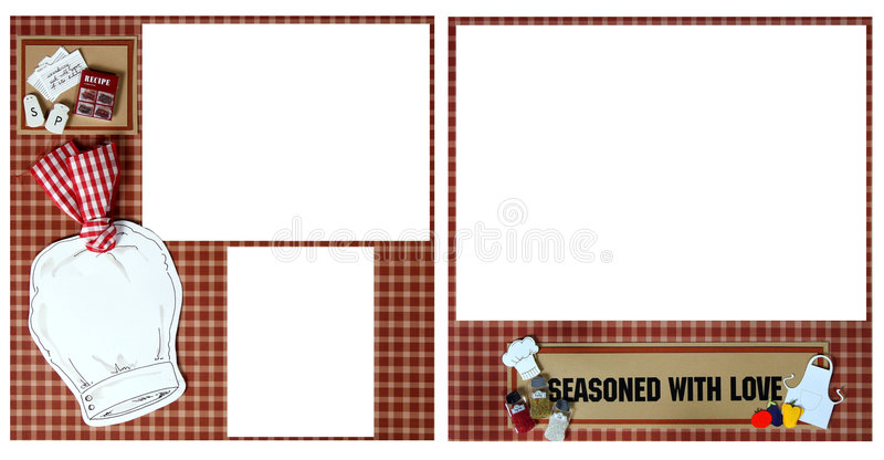 Scrapbook Page Layout royalty free illustration