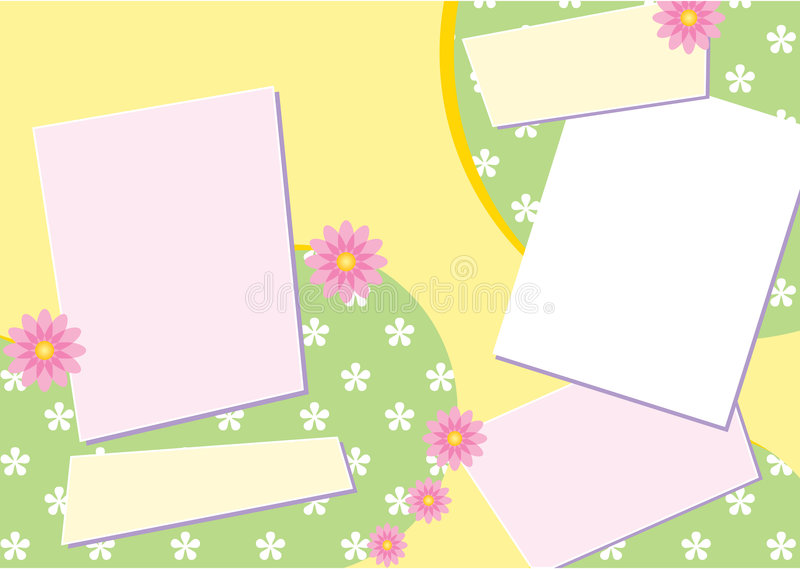 Download Scrapbook Page Layout stock vector. Image of clip, line - 2803942