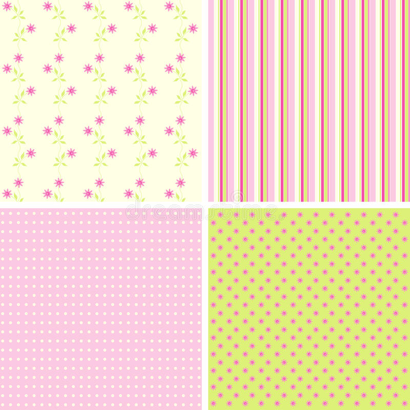 Scrapbook patterns for design,. Illustration royalty free illustration