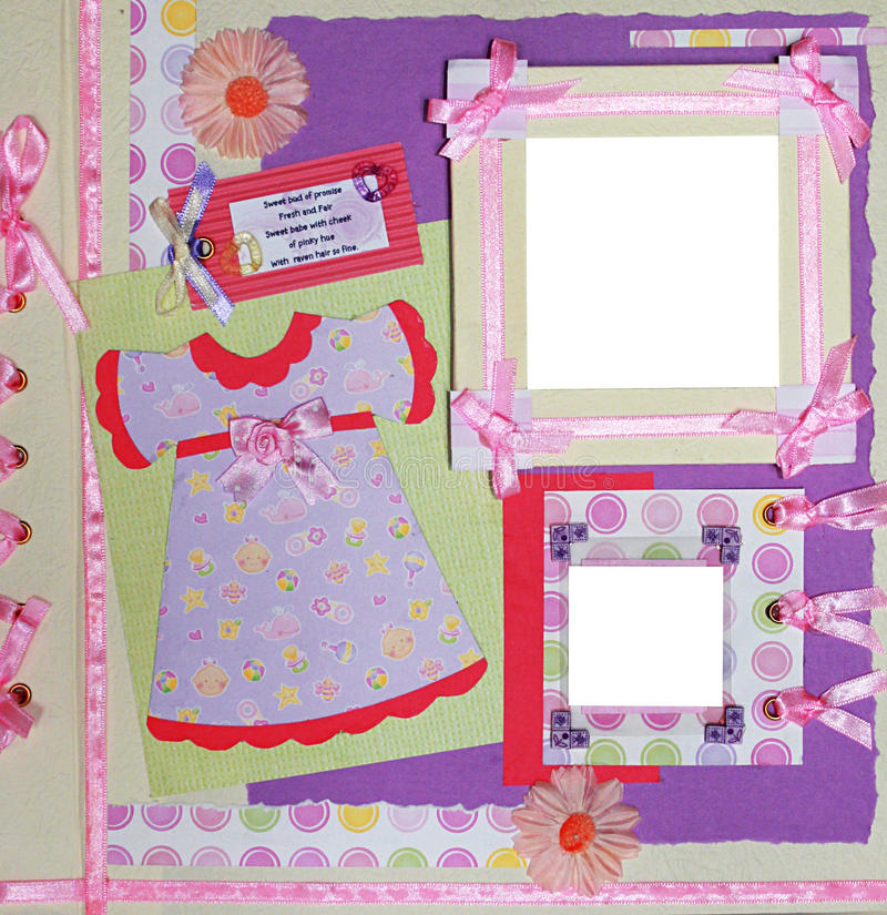 Download Scrapbook photo frame stock image. Image of lace, pattern - 10067703