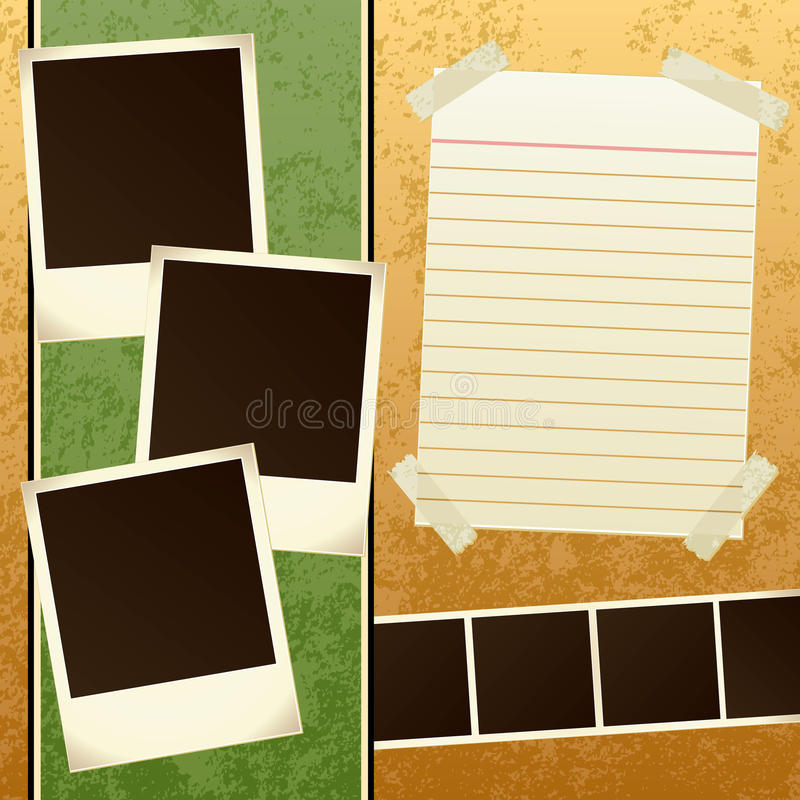 Scrapbook Template stock vector. Illustration of photo - 13847120