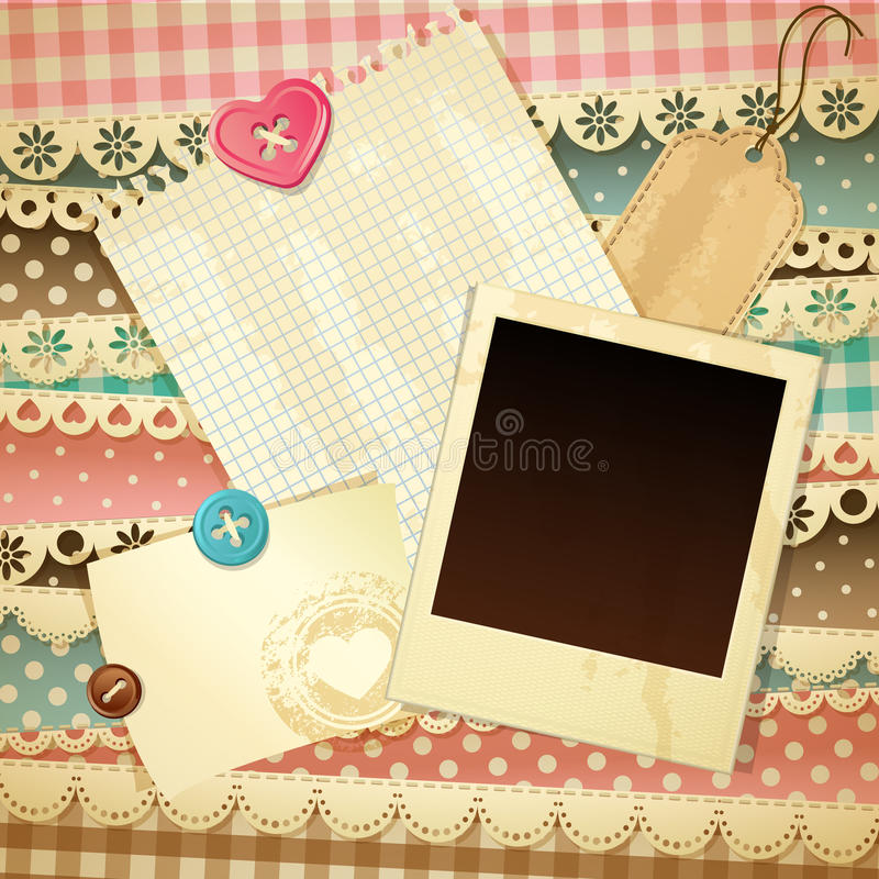 Scrapbook template stock vector illustration of page for Templates for scrapbooking to print