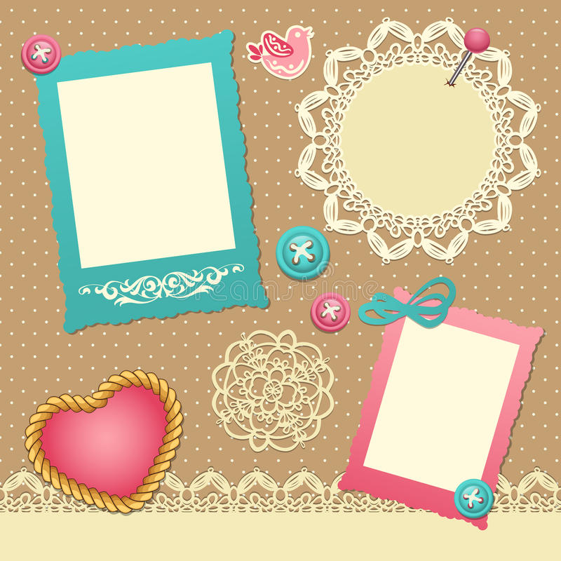 Scrapbook template stock vector. Illustration of label - 29074378
