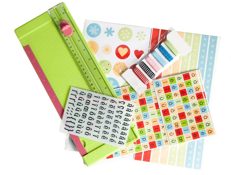 Scrapbooking royalty free stock photography