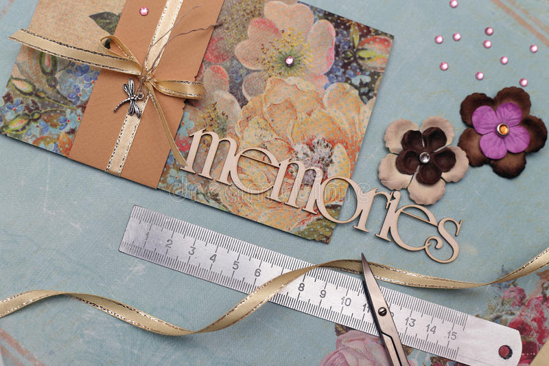 Scrapbooking illustration de vecteur