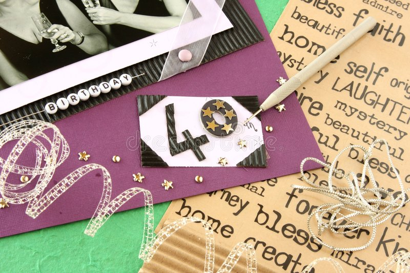 Scrapbooking stock photo