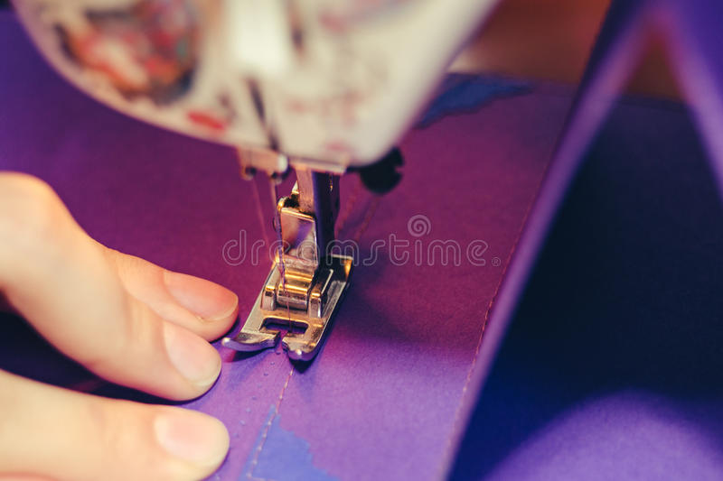 Scrapbooking Design Sewing Machine Concept stock photography
