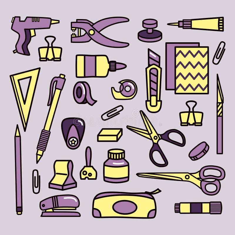 Scrapbooking equipa iconos libre illustration