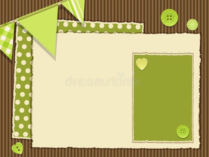 Scrapbooking grüner Plan vektor abbildung