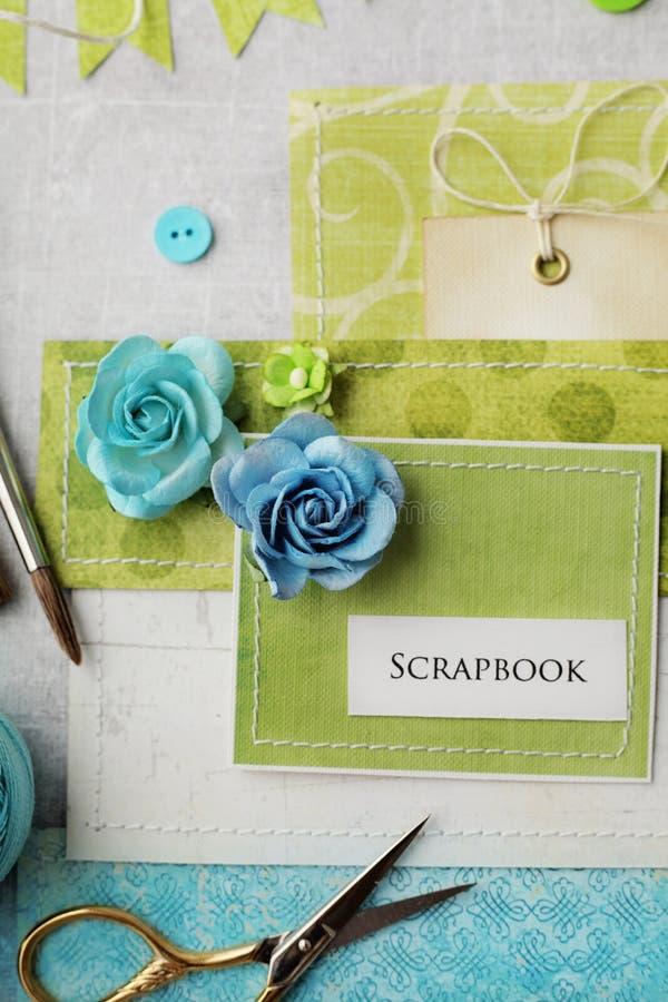 Scrapbooking Karte stockfotos