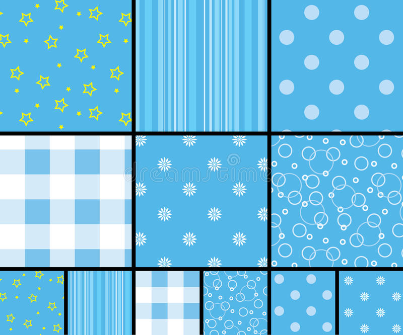 Download Scrapbooking patterns stock vector. Image of blue, pattern - 21096401