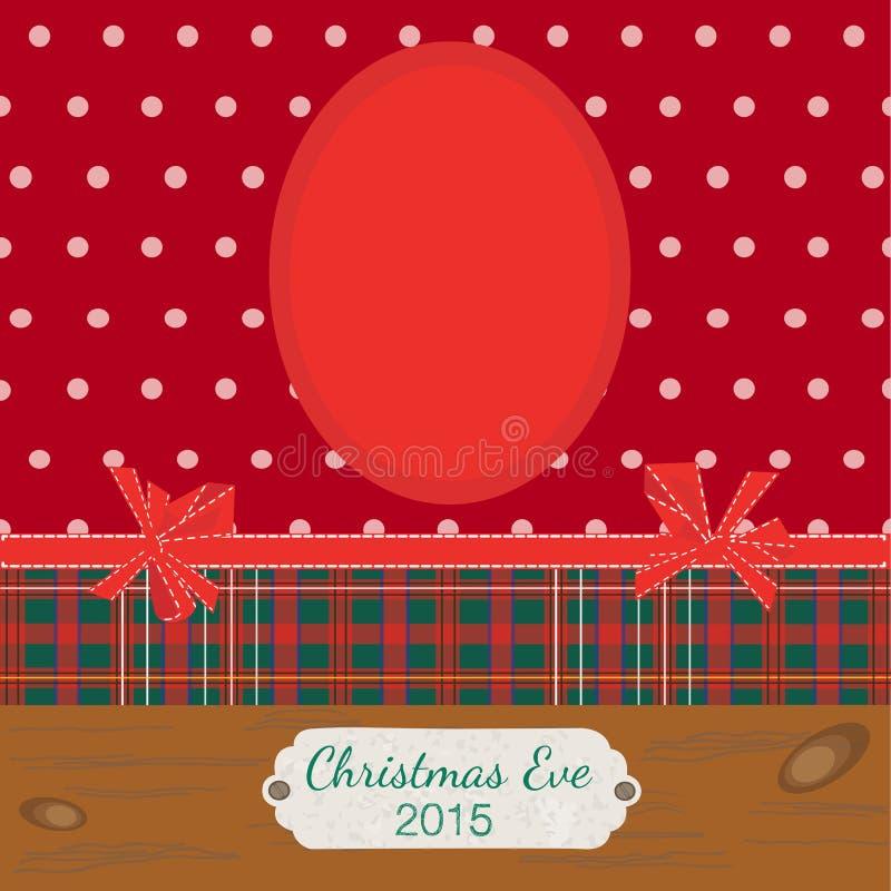 Scrapbooking-photoframe Weihnachtsabend stock abbildung