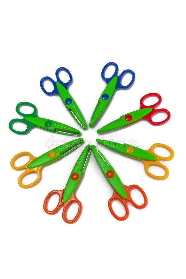 Scrapbooking Scissors royalty free stock images