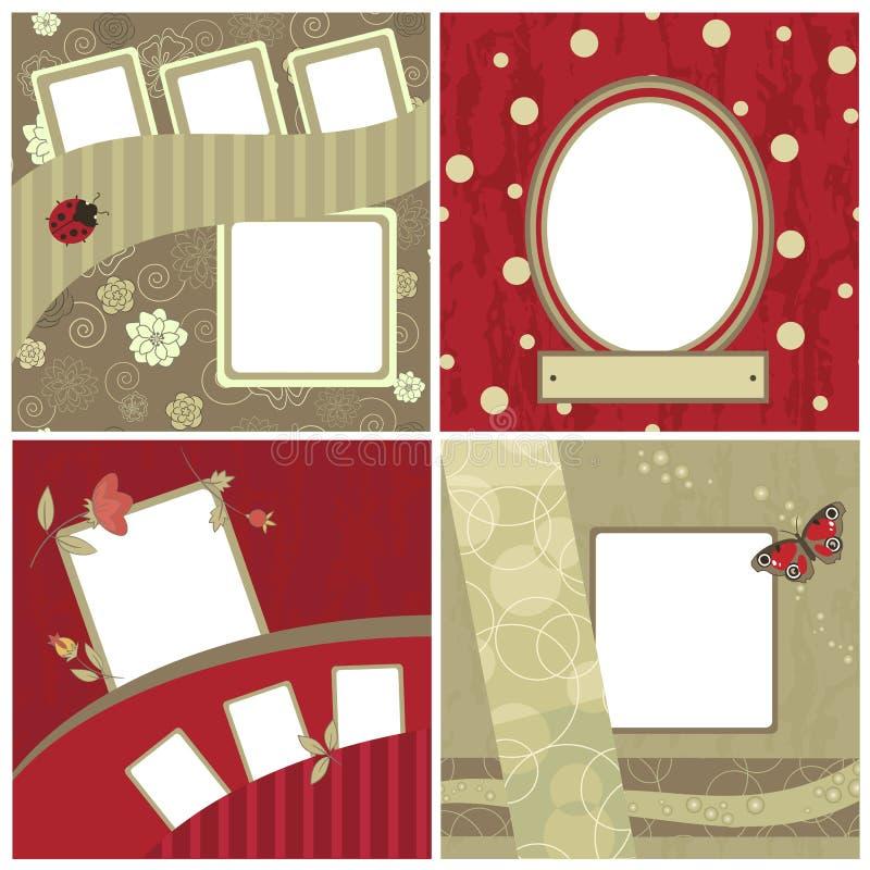 scrapbooking set piękne ramy ilustracja wektor