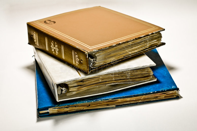 Download Scrapbooks stock photo. Image of stacked, photos, bound - 6804818