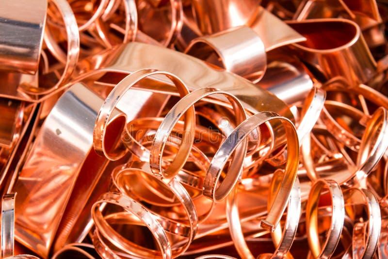 Scrapheap da folha de cobre (folha) fotos de stock