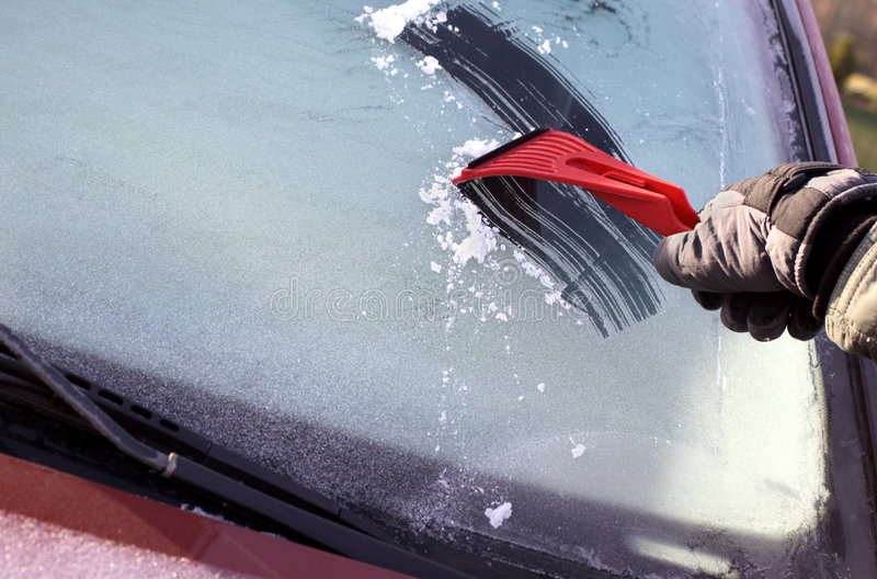 Scraping Ice Stock Image