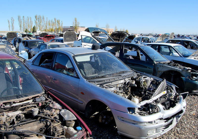 Download Scrapped vehicles stock image. Image of stacked, rusty - 7107777