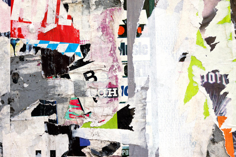 Download Scraps of posters stock image. Image of color, chaos - 28675769