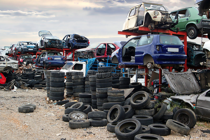 Scrapyard royalty-vrije stock foto