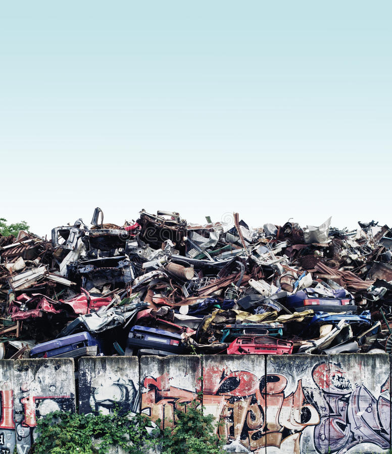 Scrapyard stock images