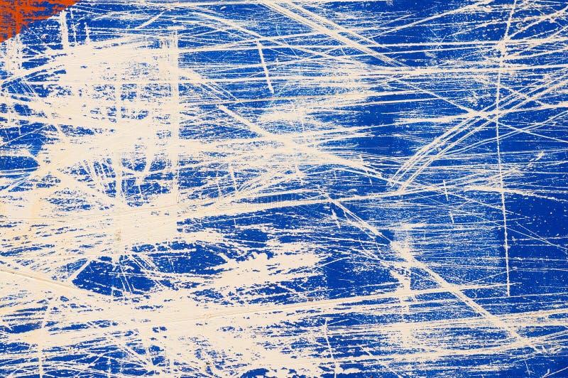 Scratch background. Blue grunge scratch textured background stock photo