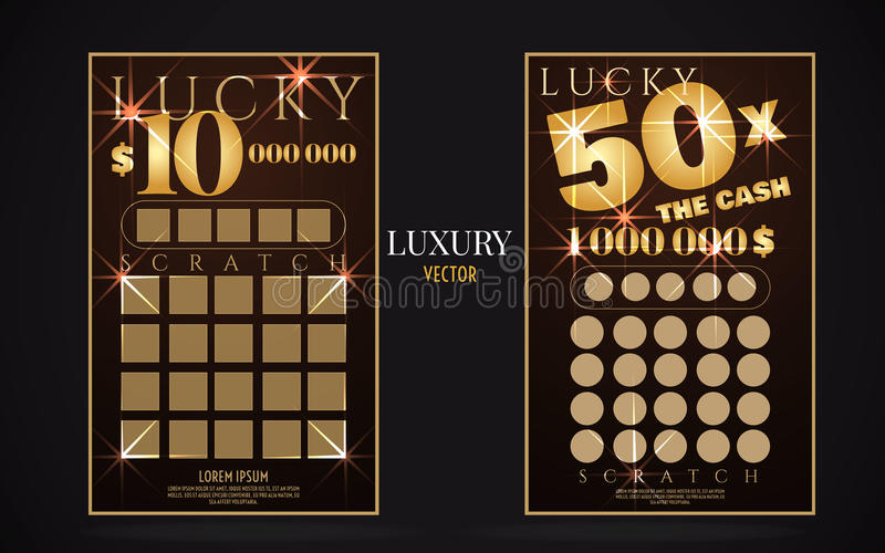 Scratch Lottery Ticket Vector Design Template Stock Vector ...