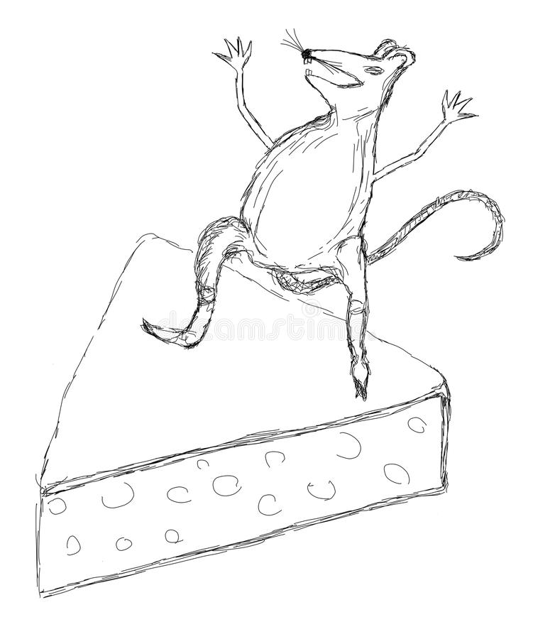 A Scratch Of A Mouse On A Cheese Royalty Free Stock Photo