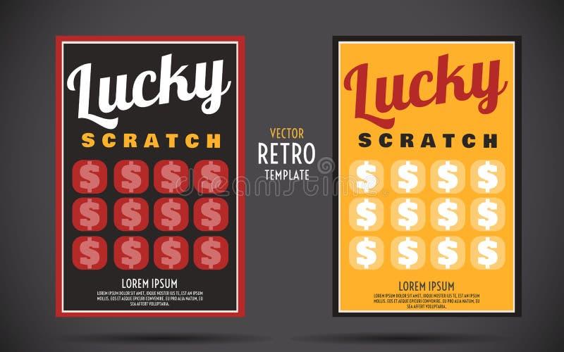 Scratch Off Lottery Ticket Vector Design Template Stock Vector ...