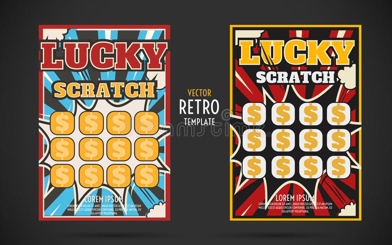 Scratch off lottery ticket vector design template stock vector download scratch off lottery ticket vector design template stock vector illustration of lottery design sciox Gallery