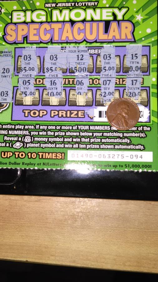 NJ Scratch Off Lottery Tickets, USA  Г  Editorial Photo - Image of