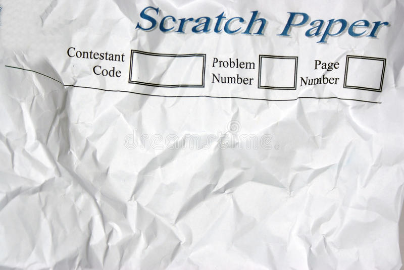 Scratch paper royalty free stock photography