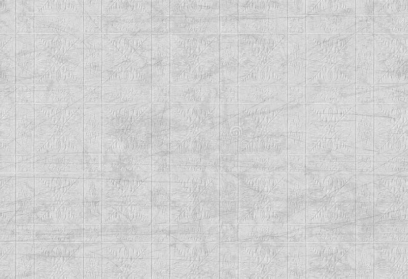 Scratched текстурировало флористическую черно-белую картину стоковые изображения rf