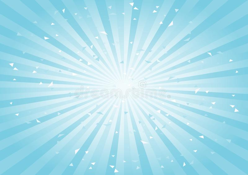 Scratched Abstract background. Soft light Blue Cyan rays background. Horizontal. Vector stock illustration