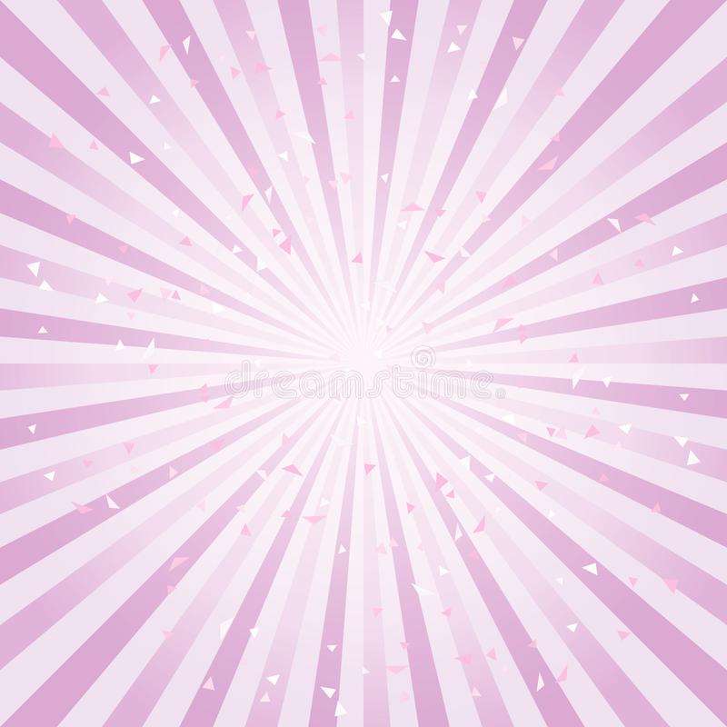 Scratched Abstract background. Soft Purple Violet rays background. Vector royalty free illustration
