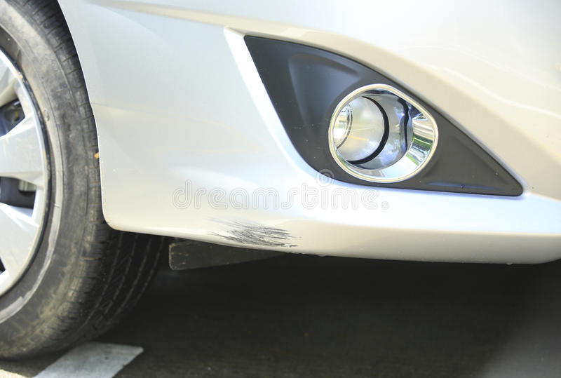 Download Scratched Car Front Bumper Royalty Free Stock Photo - Image: 32631515