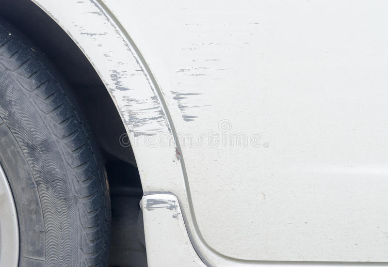 Scratched car stock image