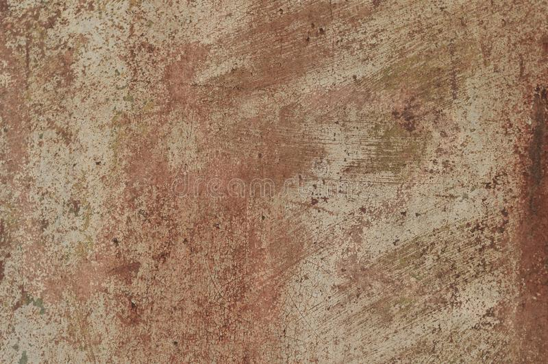 Scratched and cracks rusty grunde textured surface for background. Painted scratched and cracks rusty grunde textured surface for background, banner and copy stock photography