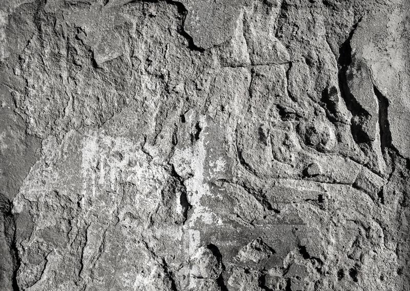 Scratched damaged concrete wall background stock photo