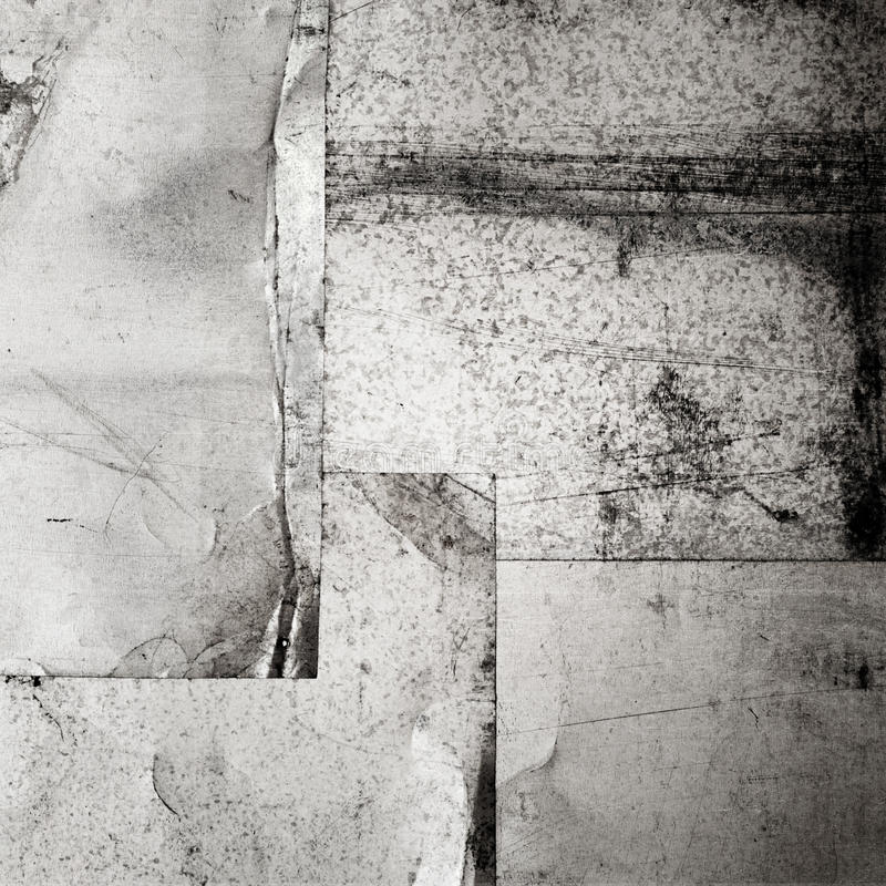 Scratched grunge metal sheets. Abstract industrial background royalty free stock photo