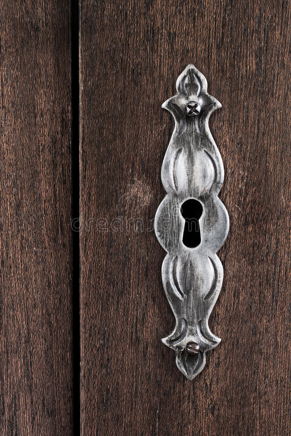 Scratched Keyhole Royalty Free Stock Photo