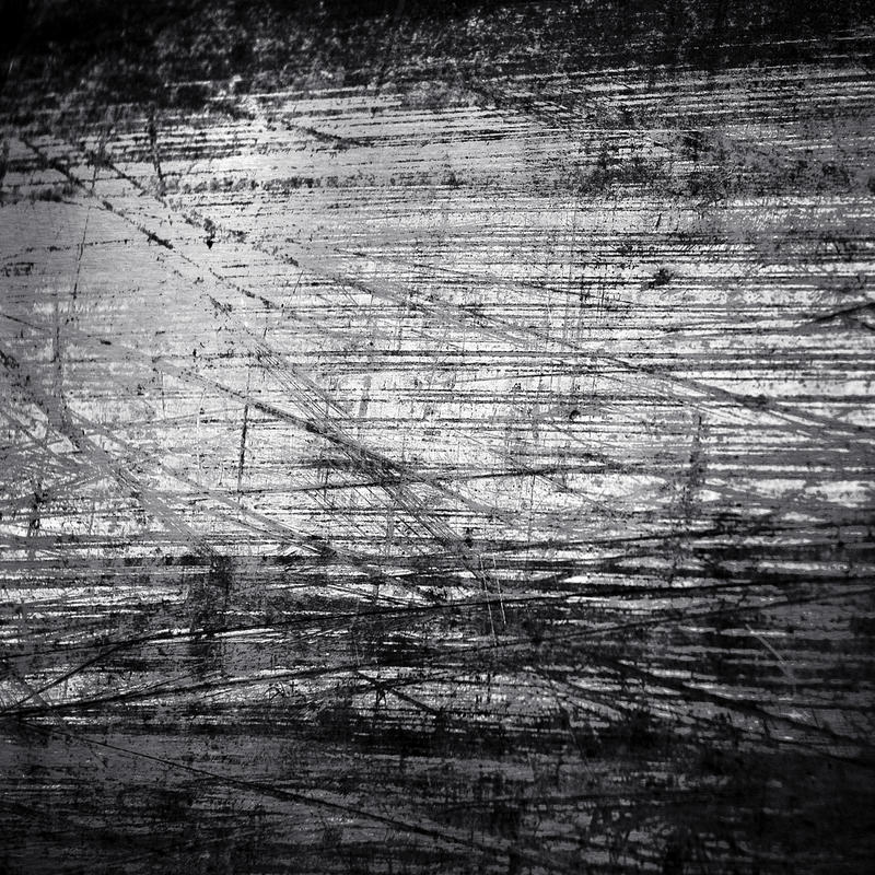 Scratched metal background. Pattern of scratched metal background stock images