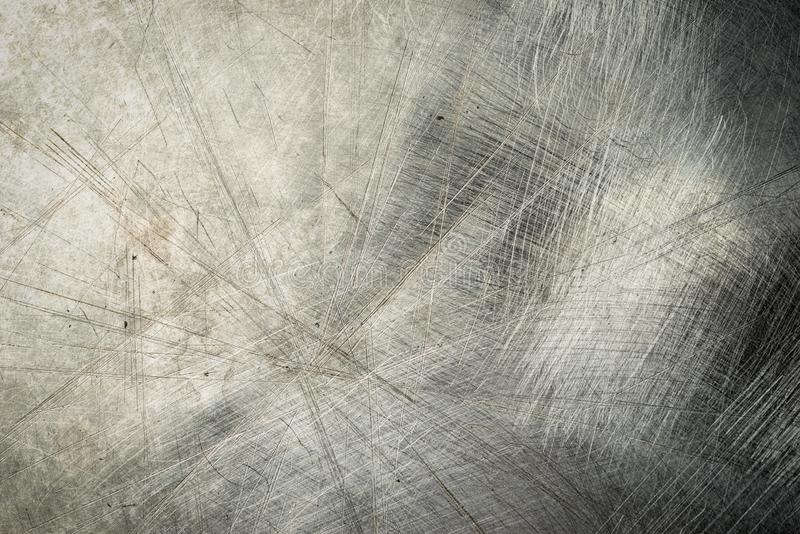 Scratched old metal texture. Grunge iron industrial metal background stock photo