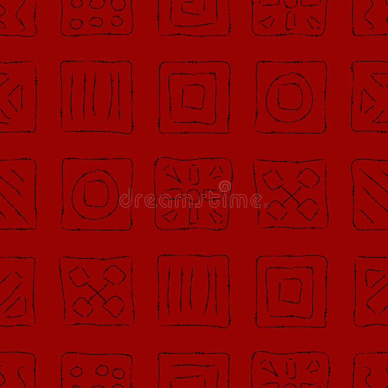 Download Scratched Symbols on Red stock vector. Illustration of nature - 26976194