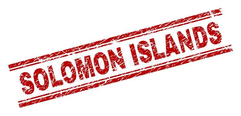Scratched Textured SOLOMON ISLANDS Stamp Seal vector illustration