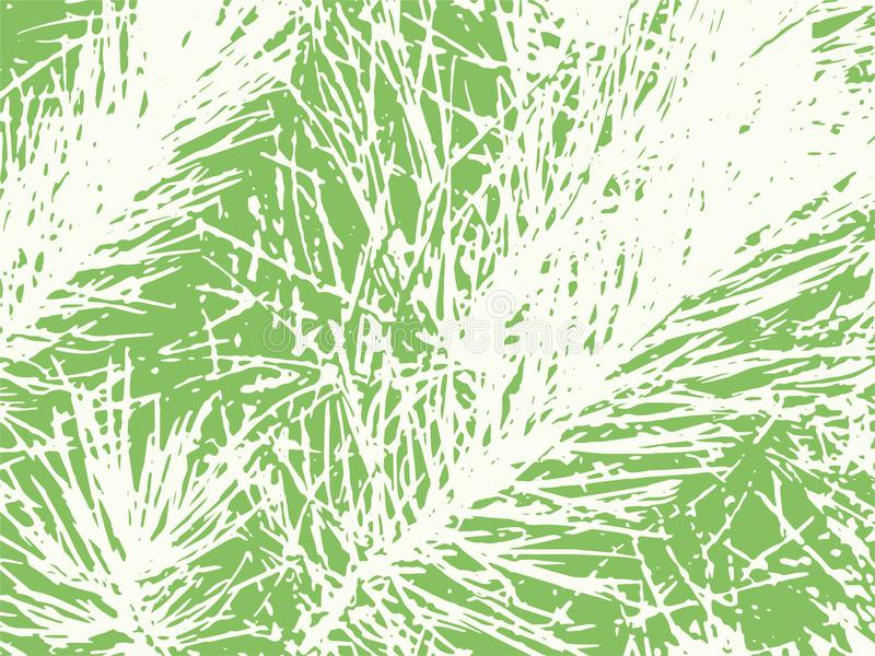 Scratched Pine Needle Textured Vector Background stock illustration