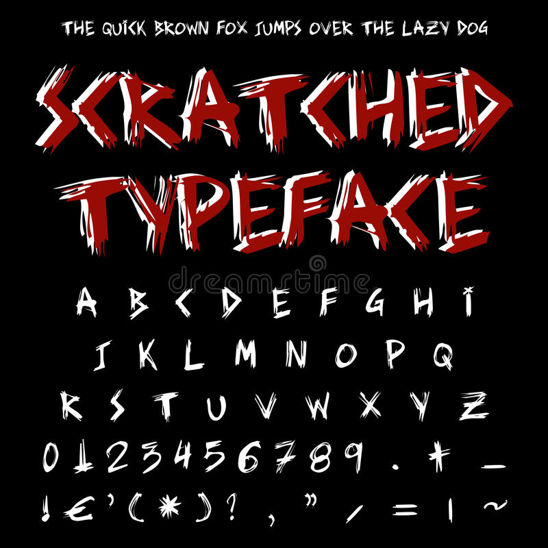 Download Scratched typeface stock illustration. Image of decorative - 22216062
