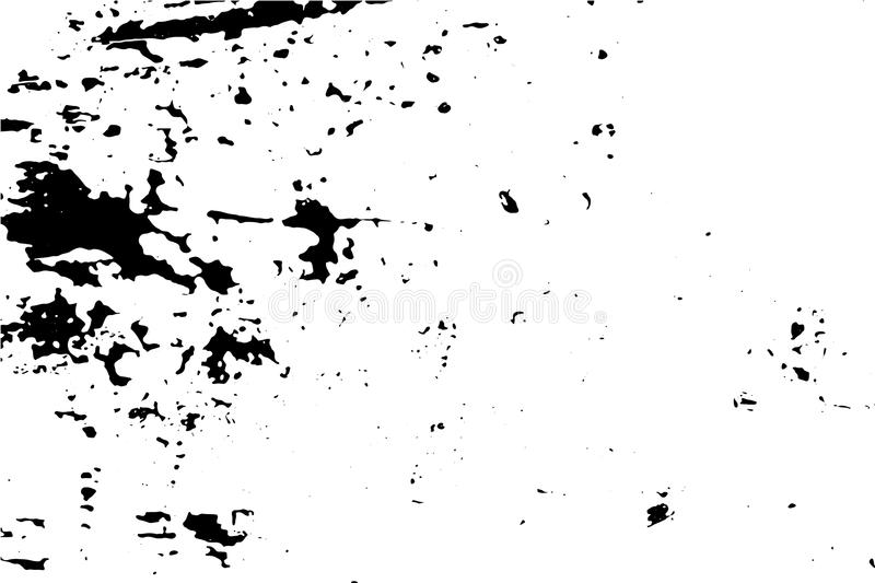 Scratched and worn surface illustration. Distressed texture of old wood wall with paint stains. Black traced texture for vintage effect. Realistic old surface vector illustration