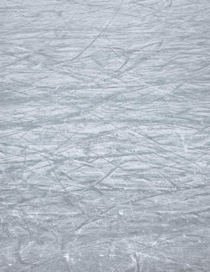 Scratches of skates royalty free stock photography