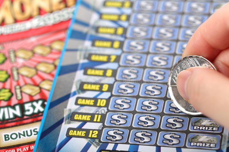 Download Scratching lottery ticket stock image. Image of failure - 39512845